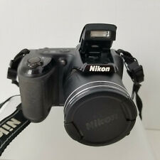 Nikon COOLPIX L340 20.2MP Digital Black Camera Carrying Strap  - AV Cord - Works