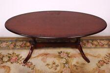 Tavolo tavolino ovale in legno metà '900 table coffee table wood vintage vecchio