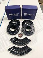 15mm / 20mm Alloy Wheel Spacers BMW 1 2 3 4 5 SERIES M14X1.25 + Bolts Bimecc