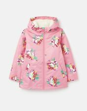 Joules Girls 211218 Waterfall Raincoat - Pink Heritage Floral