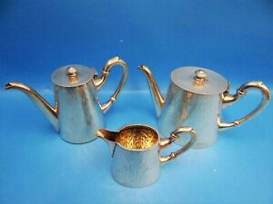 Antique Silverplated Hallmarked BB 95 Pitchers Teapots Creamer Serving Set Old