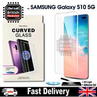 Galaxy S10 5G UV Glue Nano Optics 3D 9H Curved Tempered Glass Screen Protector