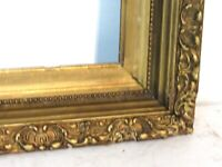 ANTIQUE 19 C  GREAT QUALITY GILT FRAME FOR PAINTING  17 X 13 INCH (e-18)