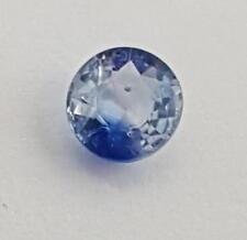 Echter rundlicher facettierter Saphir aus Sri Lanka ( 0,60 Carat ) 5,1 x 5,0 mm