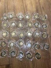 More details for job lot x 29 new / unused vintage medals - sports football rugby - green enamel