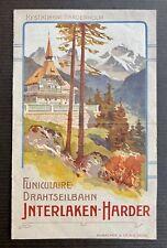 INTERLAKEN-HARDER Funiculaire Drahtseilbahn / Dépliant Touristique Suisse 1900
