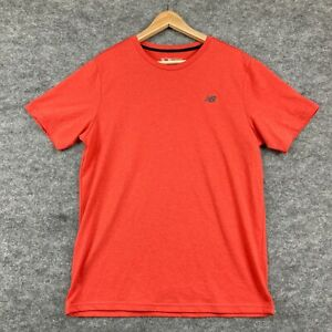 New Balance Mens T-Shirt Size L Large Orange Short Sleeve Round Neck 3.34