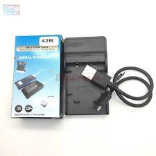 USB Charger for Olympus LI-42B LI40B ENEL10 FNP45 Battery Replace LI-40C Li-41C