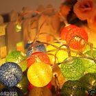 20 COTTON BALL FAIRY LED STRING LIGHTS WEDDING PARTY PATIO Festival DECOR HOT AU
