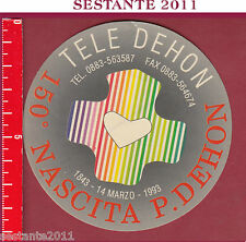 878 SANTINO HOLY CARD ADESIVO TONDO NASCITA PADRE DEHON TELE