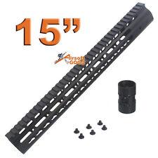 """CNC 15"""" KeyMod Rail Handguard for Marui std G&P M SR series  APS ASR Airsoft AEG"""