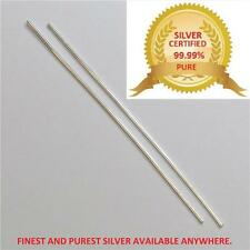 "FINEST & PUREST SILVER WIRE RODS,1.5MM THICK 6"" SILVER WIRE FOR COLLOIDAL SILVER"