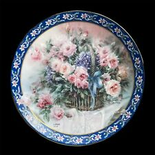Roses - Lena Liu's Basket Bouquets Limited Edition Collector Plate 1992