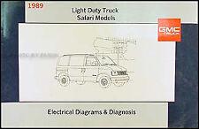 1989 GMC Safari Van Wiring Diagram Manual Original Electrical Schematics 89