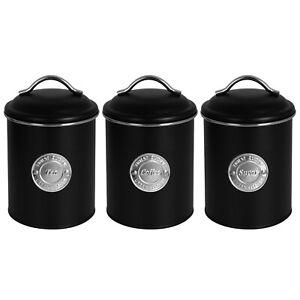 Vorratsdosen Set Kaffee Tee Zucker Dose Metalldosen Aufbewahrungsdose Blechdose