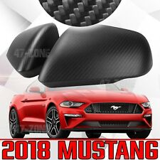 NEW For 2018 Ford Mustang Matte Carbon Fiber Turn Signal Side Mirror Cover Trim