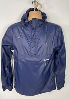 WOMENS PETER STORM SIZE SMALL BLUE CASUAL LIGHT WEIGHT HOOD RAINCOAT MAC JACKET