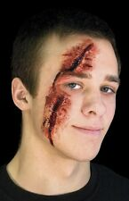 Slashed Eye Latex Prosthetic Cut Gash Professional Make Up Appliance Woochie