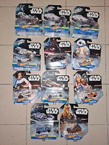 HOT WHEELS STAR WARS  lot X11 carships miniature voiture NEUF/jpj27