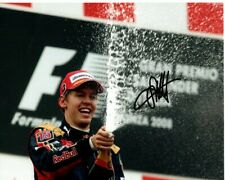 SEBASTIAN VETTEL signed autographed FORMULA ONE photo