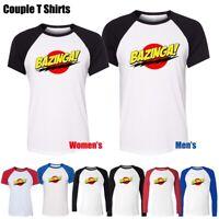 Men's Women's Bazinga Big Bang Theory Sheldon Cooper Graphic Tee Couple T-shirt