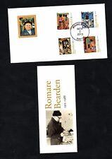 2011- USA- Traveled letter- ROMARE BEARDEN Complete set 4v