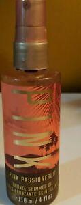 Victoria's Secret PINK Pink Passionfruit Bronze Shimmer Oil 4 fl oz RARE DISC.