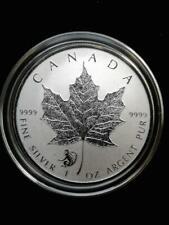 2016 1oz .9999 Fine Silver Canada Maple Monkey Privy with airtite