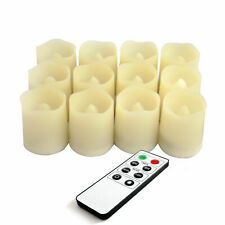 """12PCS Battery Powered Flickering Flameless LED Votive Candles with Remote 1.5""""x2"""