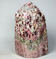 451g Natural Almandine Wine Red Garnet Crystal Point Standup - Madagascar