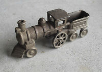 """Antique Cast Iron Locomotive and Tender Toy 5"""" Long"""