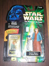 AUNT BERU FLASHBACK PHOTO STAR WARS POWER OF THE FORCE FIGURE! CARD .00!