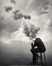 ART PRINT - Think by Tommy Ingberg 11x14 Poster Business Suit Salesman Balloons