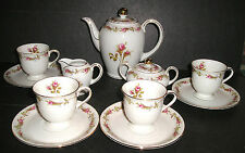 Vintage Eschenbach Bavaria Germany Demi Tasse Set Rosebud Design