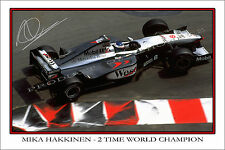 * MIKA HAKKINEN * SIGNED F1 CHAMPION PRINT, GREAT COLLECTABLE, DONT MISS OUT