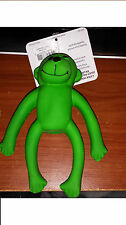 "Coastal Pet Rascals 6"" Latex Green Monkey Dog Toy Squeaking soft gentle play"