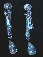 BOUCLES D'OREILLES STRASS CLIP VINTAGE 1970 NEUF/ OLD NEW  EARRINGS