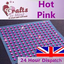 195 x 3mm Hot Pink Rhinestone Diamante Gems Diamonte