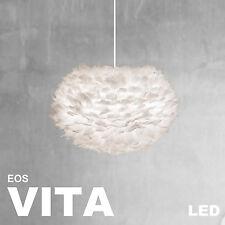 VITA EOS Lampe weiss creme + Kabelset weiss + LED, Leuchte Vogelfedern