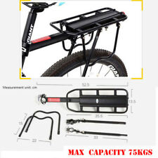 Bike Cycling Mountain Bike Rear Rack Seat Post Mount Pannier Carrier Luggage75KG
