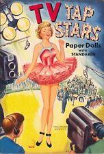 Vintge 1950S Tv Tap Stars Paper Doll Lasr Reproduction~Org Sze UncuT Free Sh No1