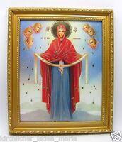 Ikone GM Mariä Schutz und Fürbitte икона Богородица Покров освящена 28x24x1,7 cm