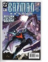 BATMAN BEYOND #10 RETURN OF THE GOLEM 2000 SERIES