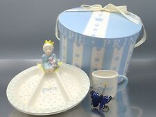 Mud Pie Prince Plate & Cup Retired Porcelain Unused Gift 2000 gift boxed cute