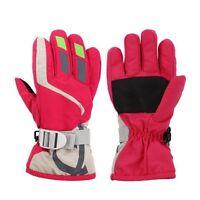 Children Winter Warm Ski Gloves Sports Windproof Snow Mittens Extended Wrist