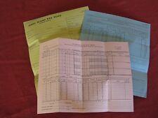 1960's LIRR Forms/Reports Conductors/Trainman Passenger Service NOS EXC