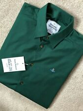 VIVIENNE WESTWOOD MEN'S GREEN S25DL0367 LOGO L/S SHIRT TOP - 50 - NEW & TAGS