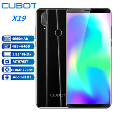 "CUBOT X19 5.93"" 4G CELLULARE 4+64GB Android 8.1 Fingerprint Telefono 2*SIM 16MP"
