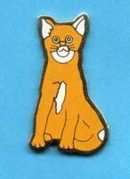 Pin's lapel pin pins KATZE CAT GATO GATTO KAT CHAT ROUX ET BLANC