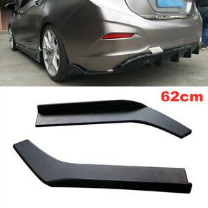 2X Universal Car SUV Bumper Spoiler Anti-crash Rear Lip Angle Splitter Diffuser